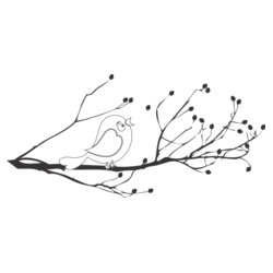 blossom tree bird womens